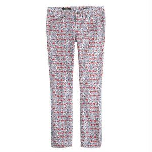 J. Crew Liberty of London Toothpick Matilda Tulip